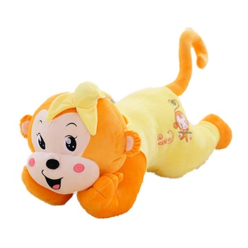 香蕉猴子 毛绒玩具公仔小猴子娃娃趴趴大猴子抱枕头儿童生日礼物(黄色