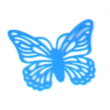 镂空蝴蝶造型隔热垫/杯垫(蓝色)