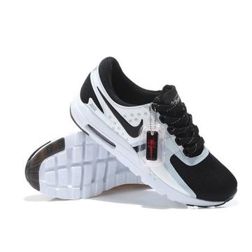 耐克/nike air max zero qs 半掌气垫网面男鞋运动跑步鞋789695(黑白