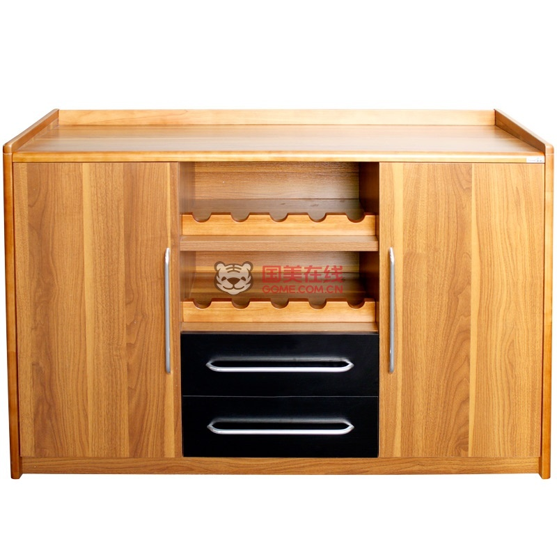派森家具 简约现代 实木包边客厅储物柜 厨房碗柜茶水