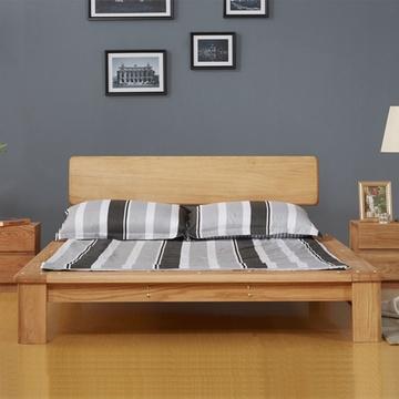 实木床 橡木床 双人床 榻榻米 现代简约 1.8米 1.