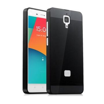 小米4手机壳小米4手机套米四金属边框式后盖m4保护