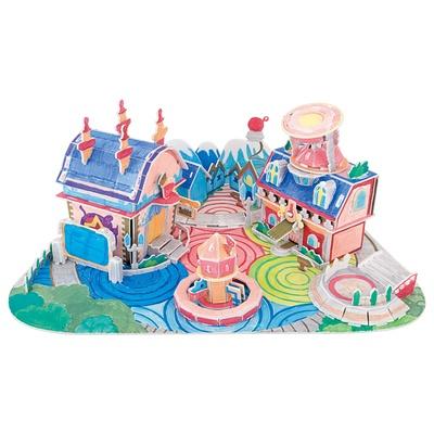 3d立体拼图纸质 diy手工绘画工具儿童拼插玩具*纸模手工拼图宝宝礼物