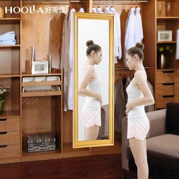 好莱佳穿衣镜全身镜旋转推拉衣柜镜柜内伸缩折叠试衣