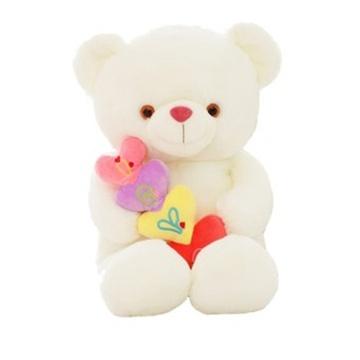 公仔抱心熊猫娃娃抱抱熊毛绒玩具泰迪熊可爱玩偶超大号女生日礼物(米