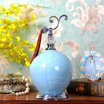 新中式复古客厅电视柜玄关陶瓷摆件工艺礼品