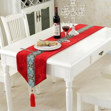 木儿家居桌旗欧式田园茶几餐桌布艺桌布绸缎蕾丝餐旗长方形餐桌布