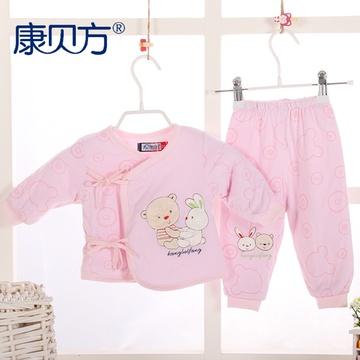 【康贝方】婴童套装婴儿内衣 可爱熊合同套 婴儿衣服秋冬新品#4281