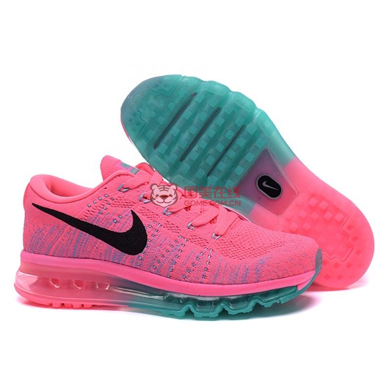 耐克nike flyknit air max 彩虹编织气垫跑步鞋图片