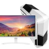 华志硕四核E3 1231V3/华硕B85/GTX750 2G/23.8英寸高端发烧台式组装电脑(白色)