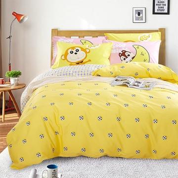 香家纺四件套纯棉四件套全棉印花床上用品可爱四件套新品上市(可爱多