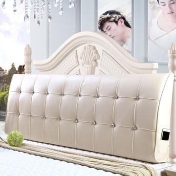 迪菲娜家纺定制 床头软包 榻榻米床头靠背靠垫 床上靠枕 床头罩皮布艺