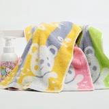 知心洗脸毛巾 可爱小熊柔软吸水舒适情侣毛巾 成人运动毛巾7068(黄灰)