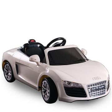 儿童电动车 奥迪r8玩具车儿童可坐四轮电动玩具汽车