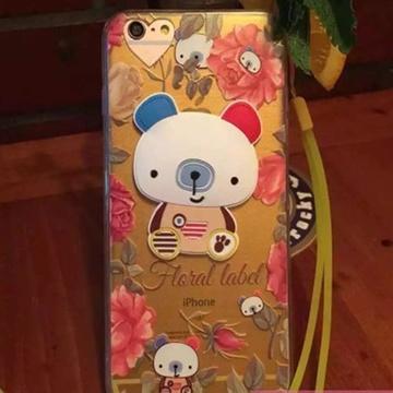 【小米苹果手机套保护套花朵熊4.7寸】疯狂动物城手机