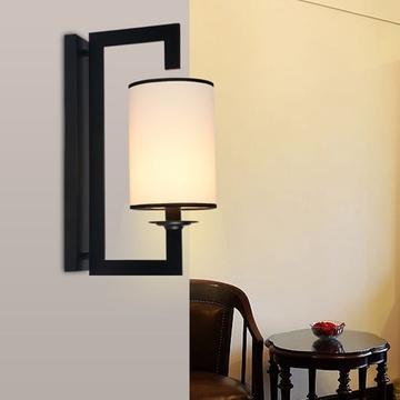 新中式壁灯 现代简约仿古走廊过道铁艺卧室床头书房