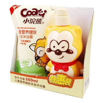 小浣熊儿童倍润(洗发浴露二合一) 300ml/瓶图片