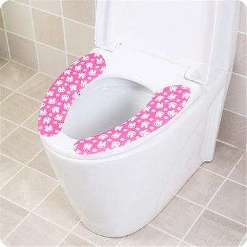 便垫桶垫可反复水洗马桶坐垫lq3057(加厚太阳花咖色)