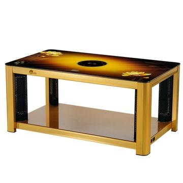 遥控电暖炉 电暖器 电暖桌 取暖桌 烤火桌 电炉桌 取暖茶几桌(金色)
