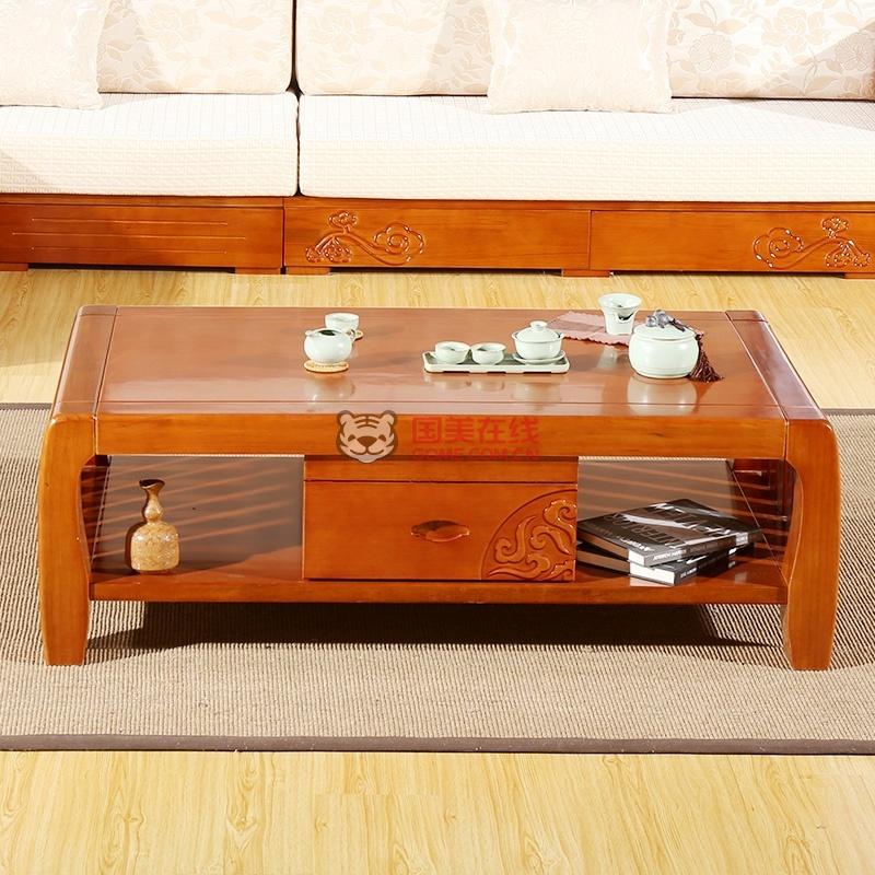 初林 实木茶几桌 中式客厅茶几组合