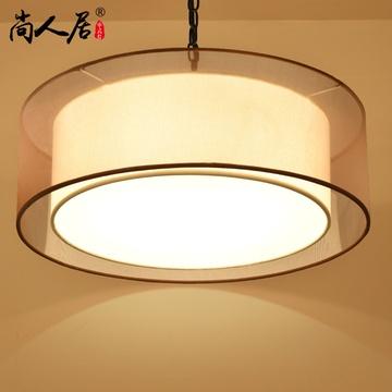 现代中式吊灯 圆形复古中式客厅灯具方形餐厅阳台灯酒店工程灯饰(e27*