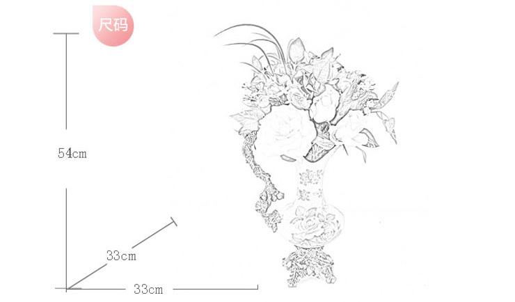 手绘插花设计图