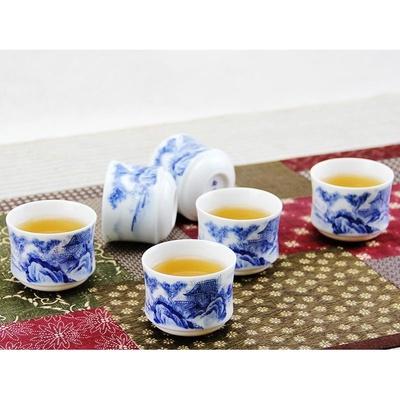 古印尚源8头归园田居景德镇茶具手绘青花瓷套装