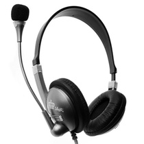 意高(ECHOTECH)CE-208 耳机 耳麦 头戴式耳麦(铁灰色)(随时随地进行互联网通话、欣赏音乐或观看电影,适合PC电脑或3.5mm接口的音乐和DVD播放器)