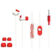 HelloKitty HKR-EP03线控耳塞入耳式耳塞(白色)(精致线控拥有接听及结束通话、音量加减功能,KT束线器,让你免去整理线材的烦恼,)
