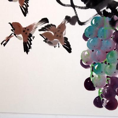 国画葡萄的几种画法 怎样画写意葡萄