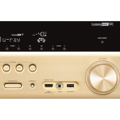 雅马哈(yamaha)rx-v777 收音扩音机 7.2声道av功放(金色)
