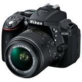 尼康(Nikon) D5300 单反套机(AF-S DX 18-55mm f/3.5-5.6G VR II 尼克尔镜头)黑色