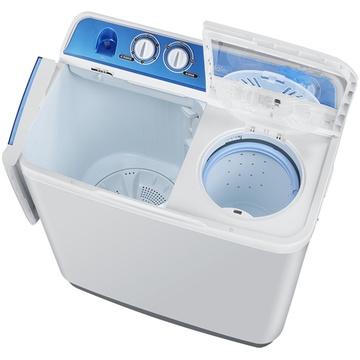 海尔半自动洗衣机的内部结构图.