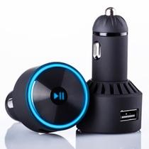 喜马拉雅随车听 车载mp3播放器 蓝牙FM发射器 点烟器式USB车充 AD-985 黑色
