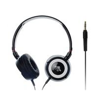 意高(ECHOTECH)CE-909 耳机 头戴式耳机 音乐型耳机(黑白色)(40mm低音透气孔动圈式扬声器,90°可旋转式的耳罩,贴心设计,便于随声携带)